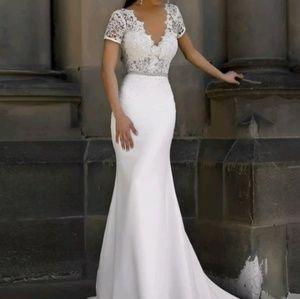 Dresses & Skirts - New hot sale♨️ Sheer Mermaid Wedding Dress